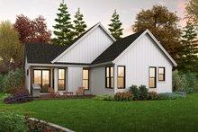 Dream House Plan - Farmhouse Exterior - Rear Elevation Plan #48-1031