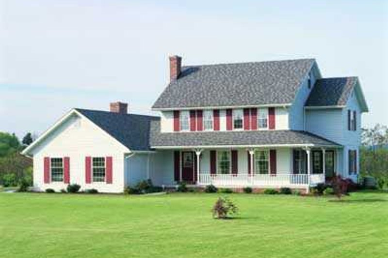 Farmhouse Style House Plan - 4 Beds 2.5 Baths 2339 Sq/Ft Plan #72-144 Exterior - Front Elevation