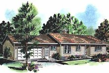 Home Plan - Ranch Exterior - Front Elevation Plan #18-126