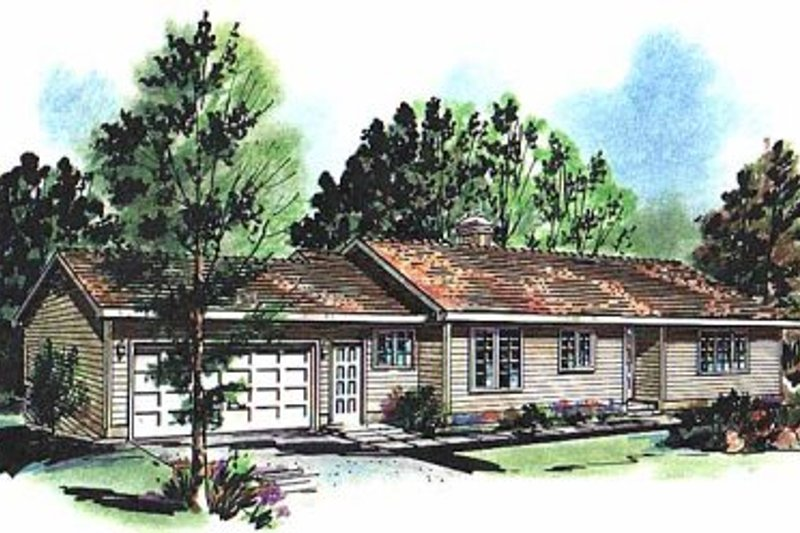 House Blueprint - Ranch Exterior - Front Elevation Plan #18-126