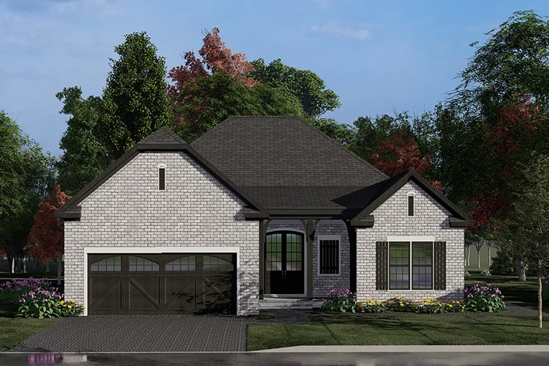 European Style House Plan - 4 Beds 2 Baths 1783 Sq/Ft Plan #923-137 Exterior - Front Elevation