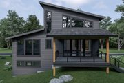 Contemporary Style House Plan - 3 Beds 3.5 Baths 1973 Sq/Ft Plan #1070-62 Exterior - Rear Elevation