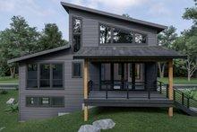 Home Plan - Contemporary Exterior - Rear Elevation Plan #1070-62