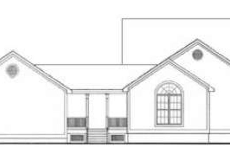 Country Exterior - Rear Elevation Plan #406-164 - Houseplans.com