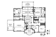 Craftsman Style House Plan - 3 Beds 2 Baths 2212 Sq/Ft Plan #487-2 Floor Plan - Main Floor