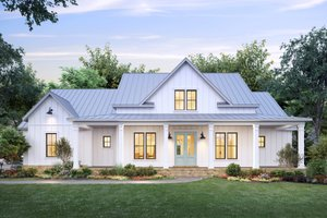 Dream House Plan - Farmhouse Exterior - Front Elevation Plan #1074-30