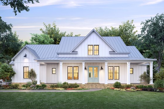 Home Plan - Farmhouse Exterior - Front Elevation Plan #1074-30