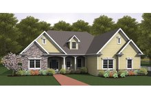 Home Plan - Ranch Exterior - Front Elevation Plan #1010-34