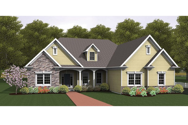 Ranch Exterior - Front Elevation Plan #1010-34 - Houseplans.com