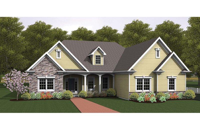 House Plan Design - Ranch Exterior - Front Elevation Plan #1010-34