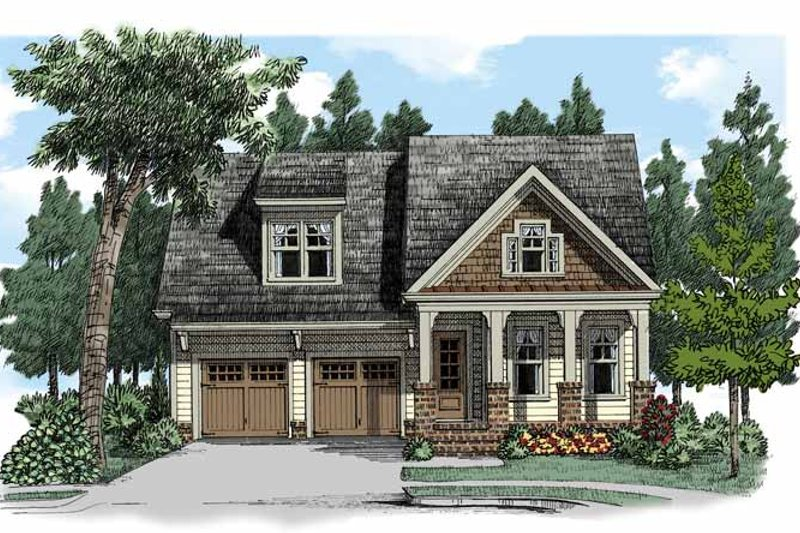 Craftsman Exterior - Front Elevation Plan #927-505