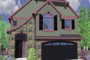 Country Exterior - Front Elevation Plan #509-325