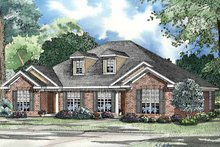 Colonial Exterior - Front Elevation Plan #17-3161