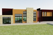 Modern Style House Plan - 4 Beds 6 Baths 5164 Sq/Ft Plan #542-1 Exterior - Front Elevation