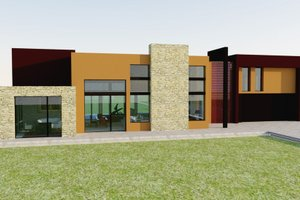 Modern Exterior - Front Elevation Plan #542-1