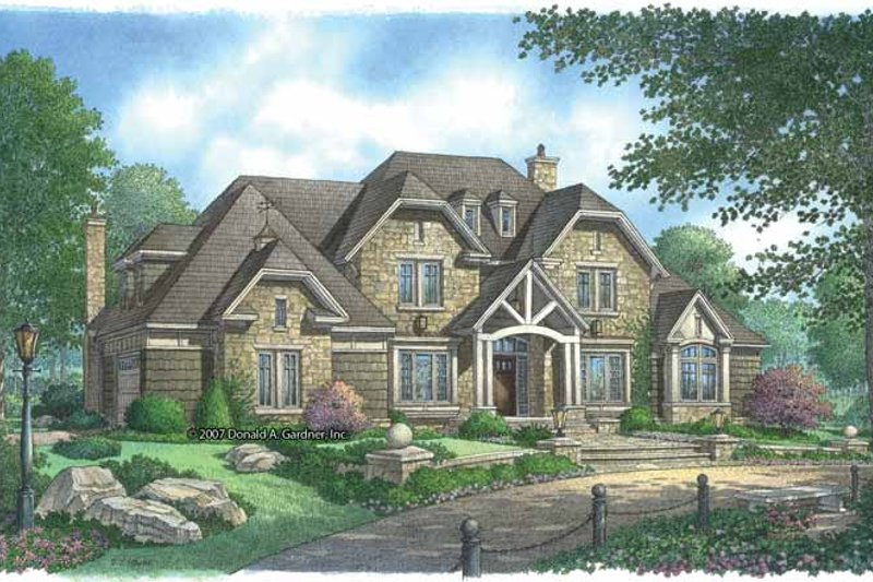 House Plan Design - Country Exterior - Front Elevation Plan #929-850