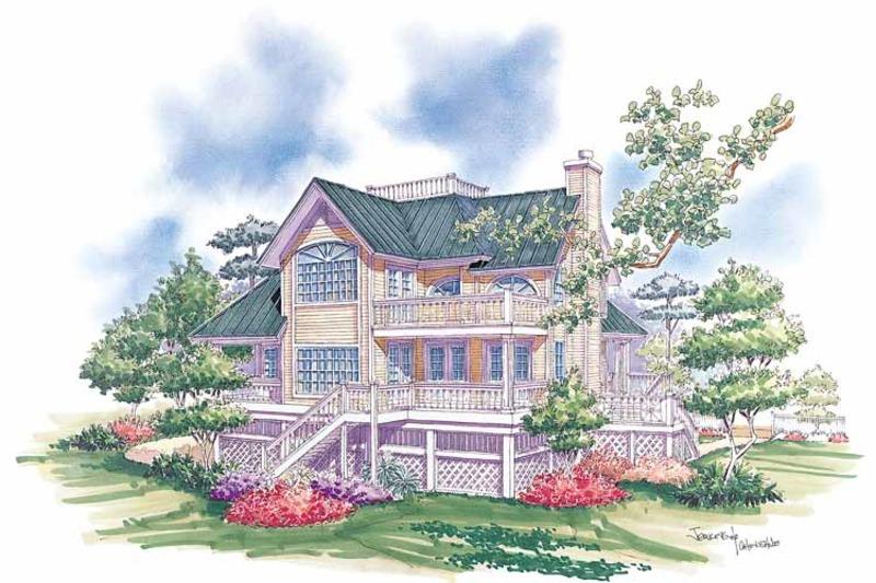 Country Exterior - Rear Elevation Plan #930-48 - Houseplans.com