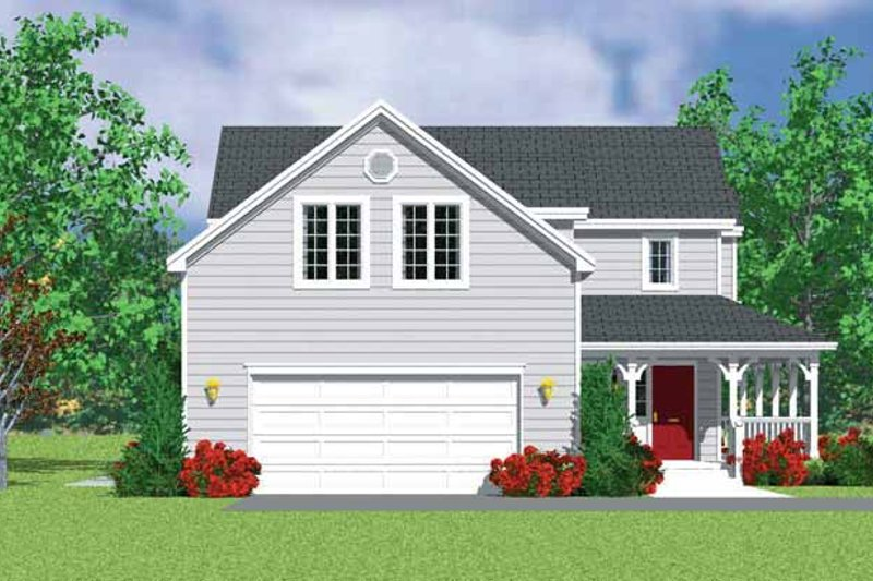Country Exterior - Other Elevation Plan #72-1116 - Houseplans.com