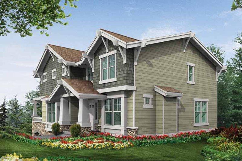 Craftsman Exterior - Rear Elevation Plan #132-312 - Houseplans.com