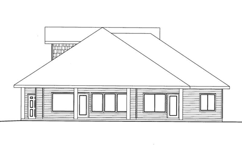 Ranch Exterior - Rear Elevation Plan #117-854 - Houseplans.com