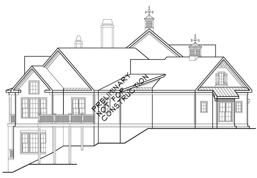 european style house plan - 4 beds 4 5 baths 5236 sq  ft plan  927-966
