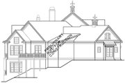 European Style House Plan - 4 Beds 4.5 Baths 5236 Sq/Ft Plan #927-966 Exterior - Other Elevation