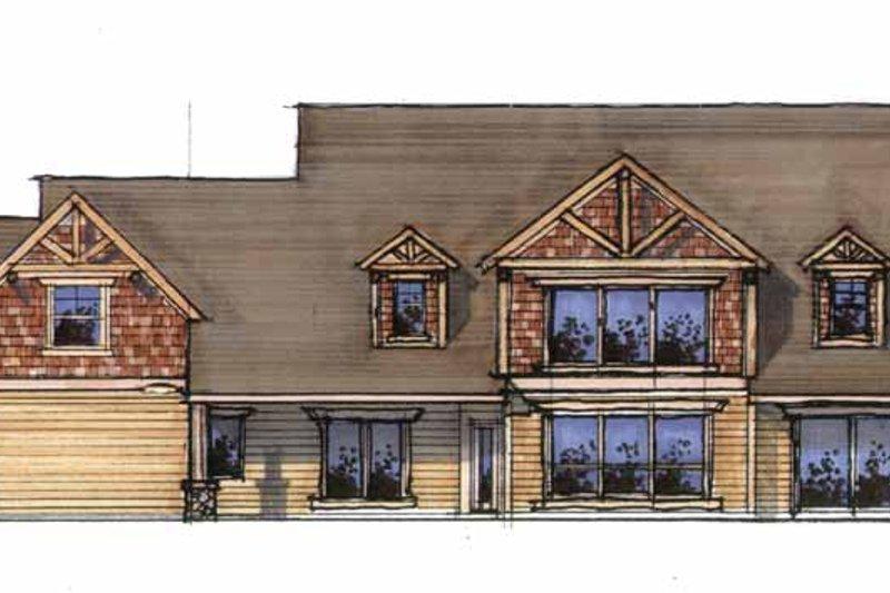 Craftsman Exterior - Rear Elevation Plan #509-357 - Houseplans.com