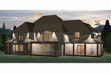 Country Exterior - Rear Elevation Plan #937-25