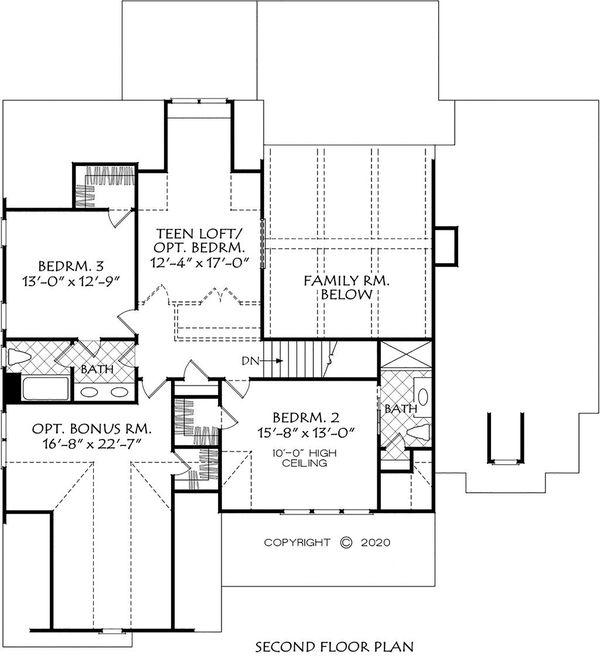 House Plan Design - Farmhouse Floor Plan - Upper Floor Plan #927-1011