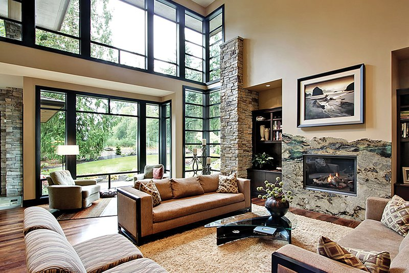 Prairie Interior - Family Room Plan #132-562 - Houseplans.com