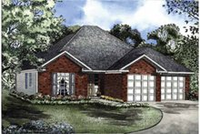 Home Plan - Ranch Exterior - Front Elevation Plan #17-2986