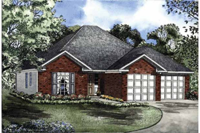 Ranch Exterior - Front Elevation Plan #17-2986