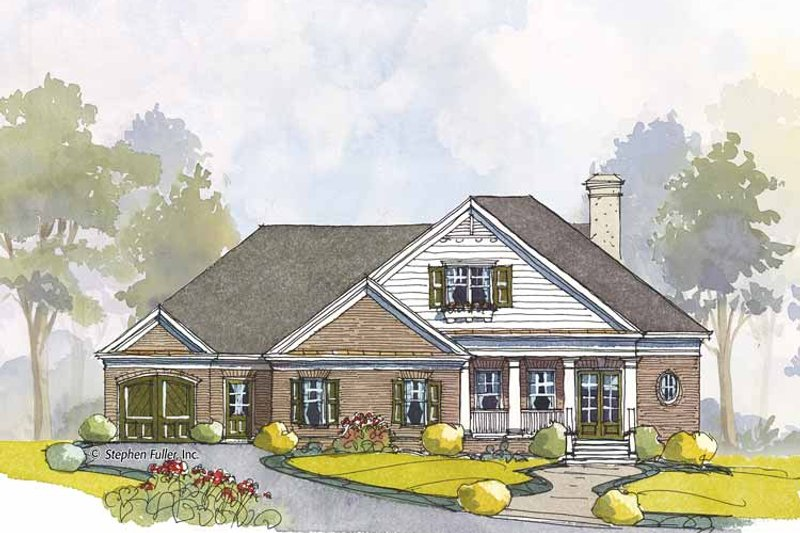 Home Plan - Colonial Exterior - Front Elevation Plan #429-443