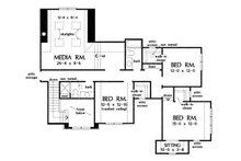 Traditional Floor Plan - Upper Floor Plan Plan #929-1101