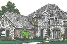 Architectural House Design - European Exterior - Front Elevation Plan #310-1277