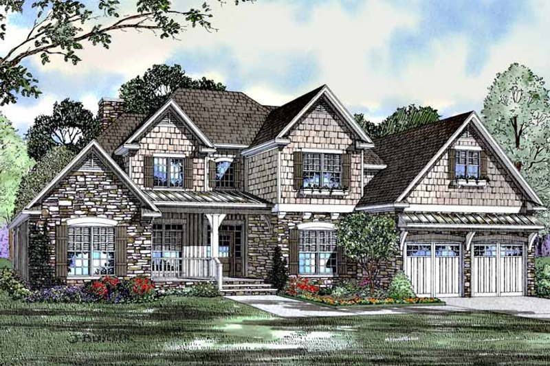 Traditional Exterior - Front Elevation Plan #17-2987 - Houseplans.com