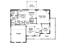 Traditional Floor Plan - Main Floor Plan Plan #46-848