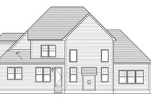 Colonial Exterior - Rear Elevation Plan #1010-156