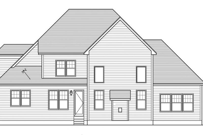 Colonial Exterior - Rear Elevation Plan #1010-156 - Houseplans.com