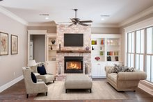 Architectural House Design - Ranch Interior - Family Room Plan #430-169