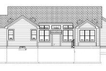 House Plan Design - Craftsman Exterior - Rear Elevation Plan #328-363