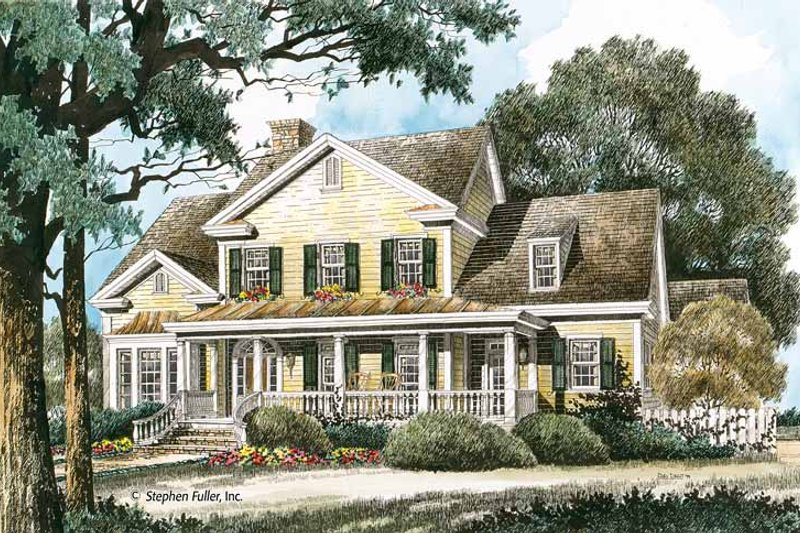 Country Exterior - Front Elevation Plan #429-347 - Houseplans.com