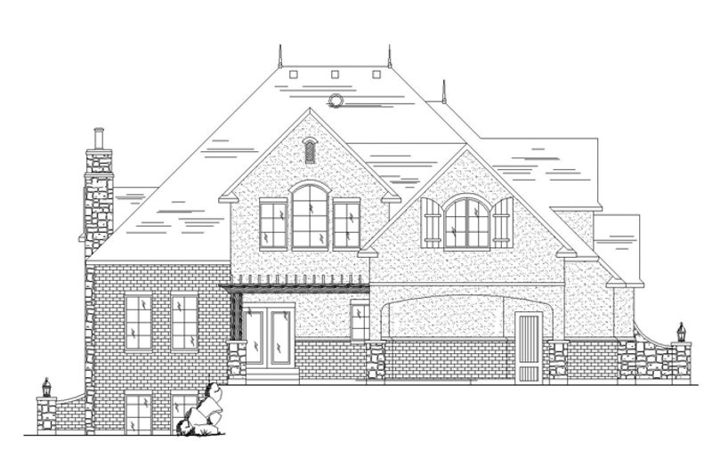 European Exterior - Rear Elevation Plan #945-137 - Houseplans.com