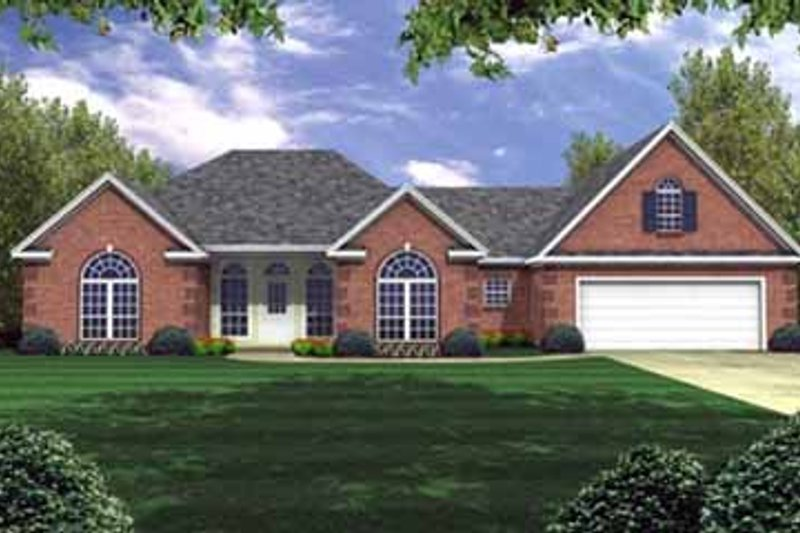 European Exterior - Front Elevation Plan #21-136