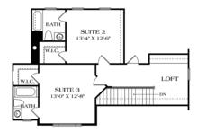 Craftsman Floor Plan - Upper Floor Plan Plan #453-625