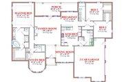 European Style House Plan - 4 Beds 3 Baths 2620 Sq/Ft Plan #63-174 Floor Plan - Main Floor Plan