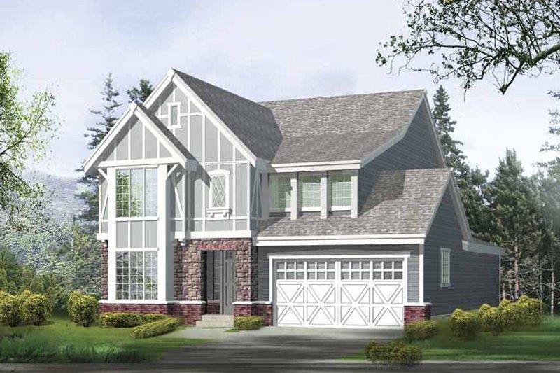 Dream House Plan - Prairie Exterior - Front Elevation Plan #132-365