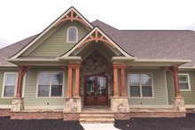 House Plan Design - Craftsman Exterior - Front Elevation Plan #437-74
