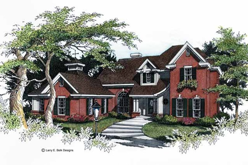 Colonial Exterior - Front Elevation Plan #952-36