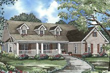 Home Plan - Country Exterior - Front Elevation Plan #17-3216